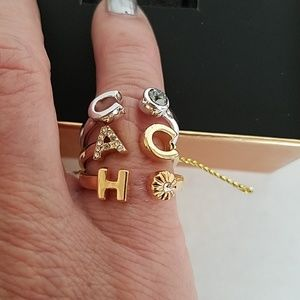 Coach set of 3 rings